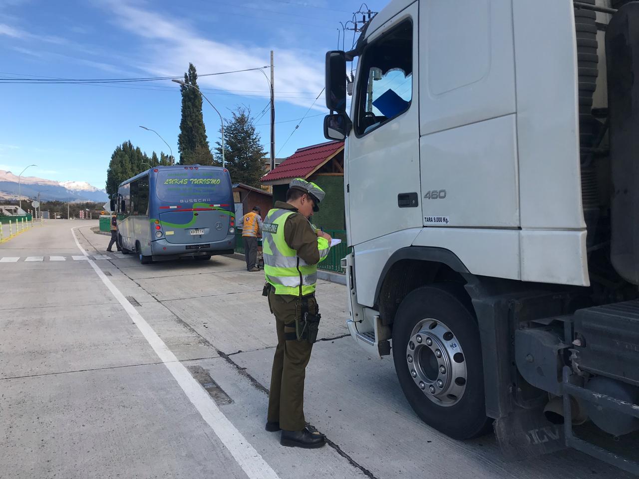 Carabineros ha realizado más de 17 mil controles carreteros de enero a la fecha en la Región de Aysén